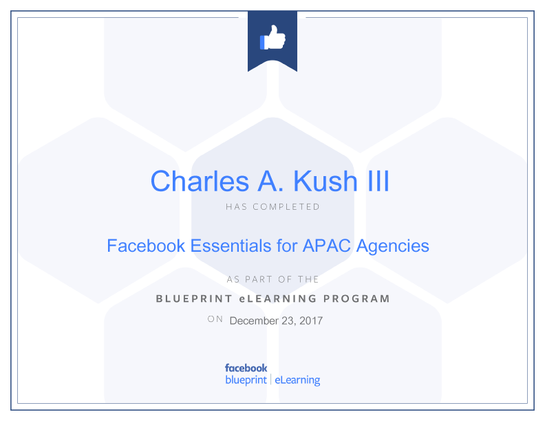Facebook blueprint charles kush facebook essentials for agencies facebook blueprint charles kush facebook essentials for agencies 2017 12 23 malvernweather Choice Image